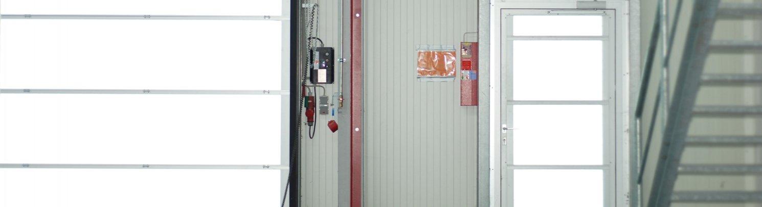 Ворота секционные гаражные и противопожарные